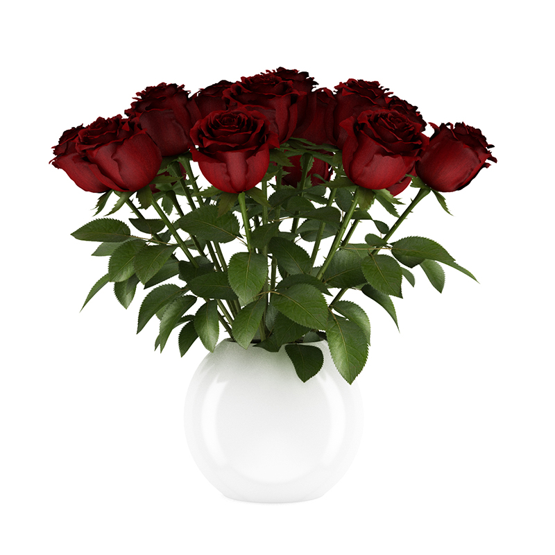 Free 3D Red Roses - CGAxis 3D Models Store