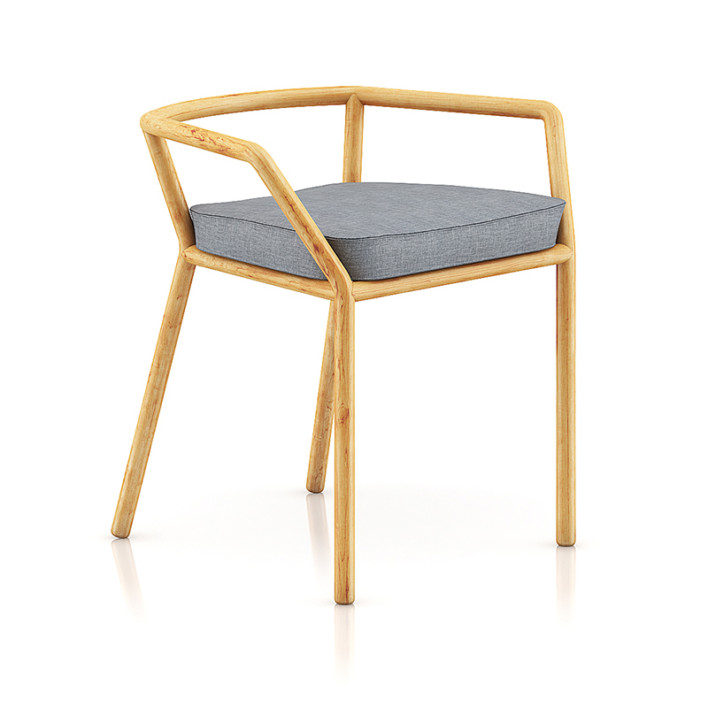 Wooden Chair with Pillow 1