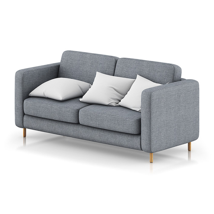 Grey Sofa with Pillows 1