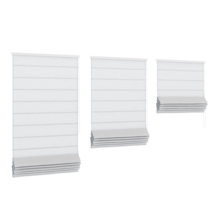 White Roman Blinds