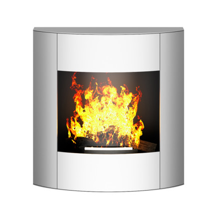 Wall Chrome Fireplace