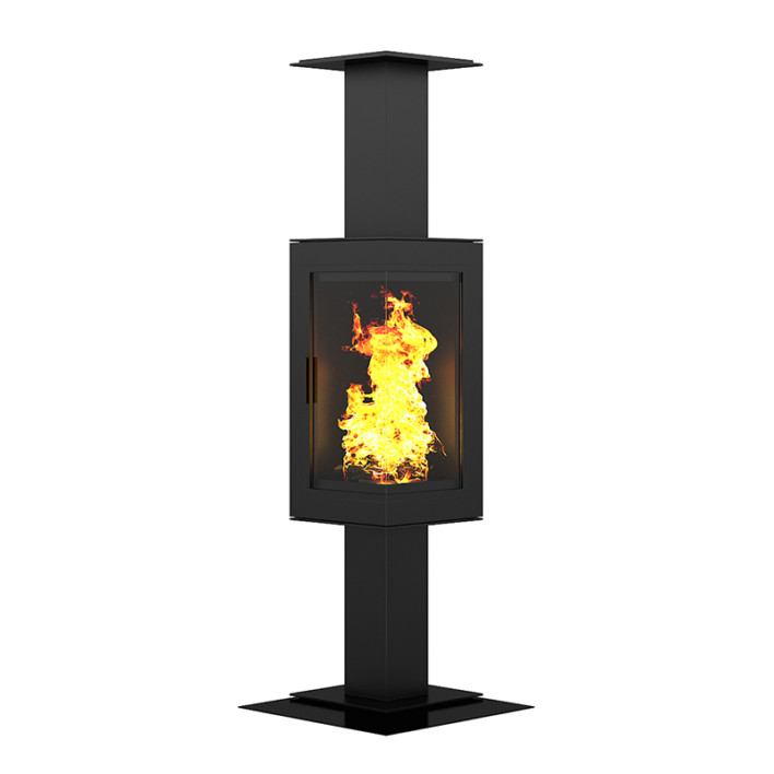 Standing Metal Fireplace 3