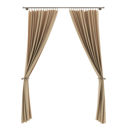 Beige Curtains