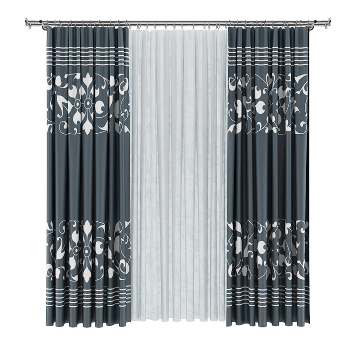 Dark and White Curtains