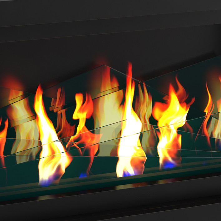 Wall Gas Fireplace 2