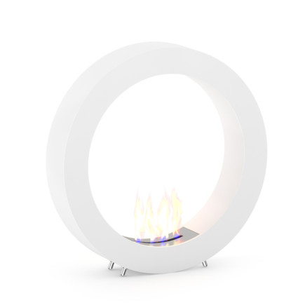 Round Gas Fireplace