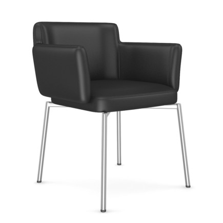 Black Leather Chair 2