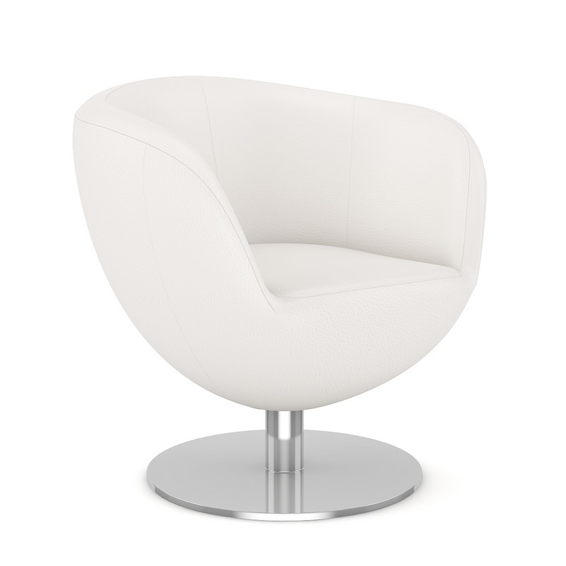 Excellent White Leather Swivel Chair Squirreltailoven Fun Painted Chair Ideas Images Squirreltailovenorg