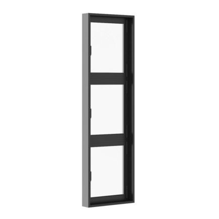 Black Metal Window 800mm x 2700mm