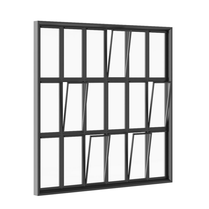 Black Metal Window 2820mm x 2820mm
