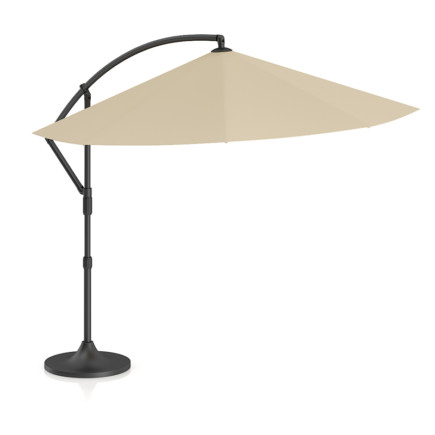 Round Beige Sunshade Umbrella 2