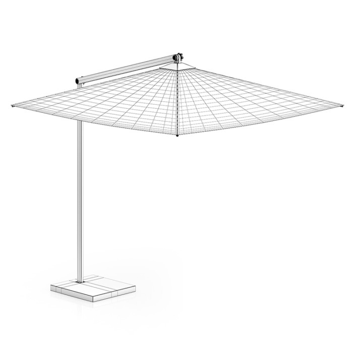 Square Beige Sunshade Umbrella