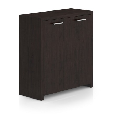 Black Wood Cabinet with Doors
