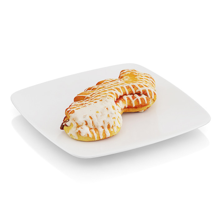 Baked roll with jam