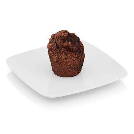 Bitten chocolate muffin