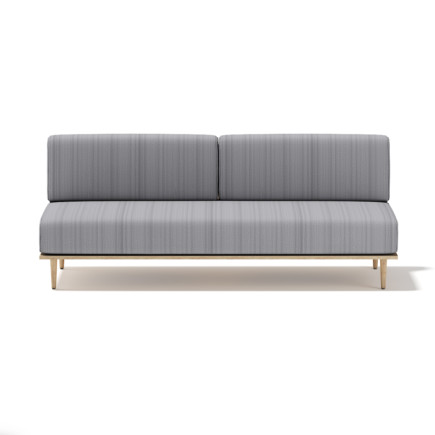 3d Grey Sofa with Wooden Frame