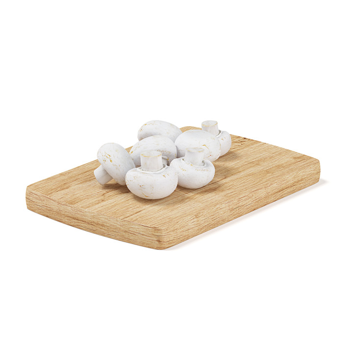 Mushrooms on Wooden Board
