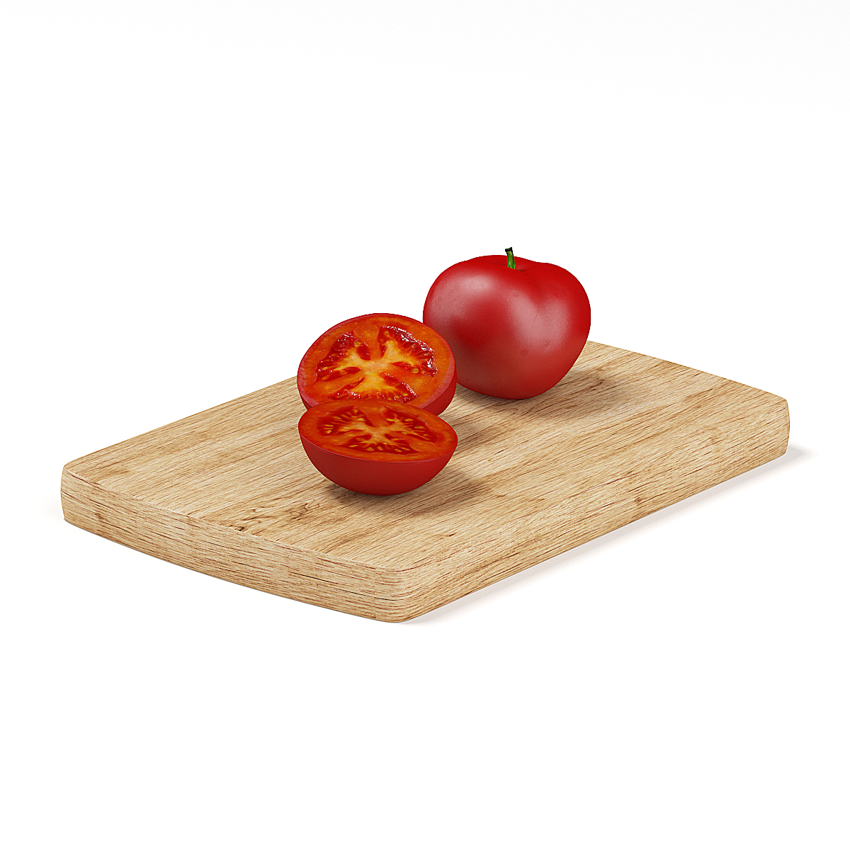 Whole And Sliced Tomato