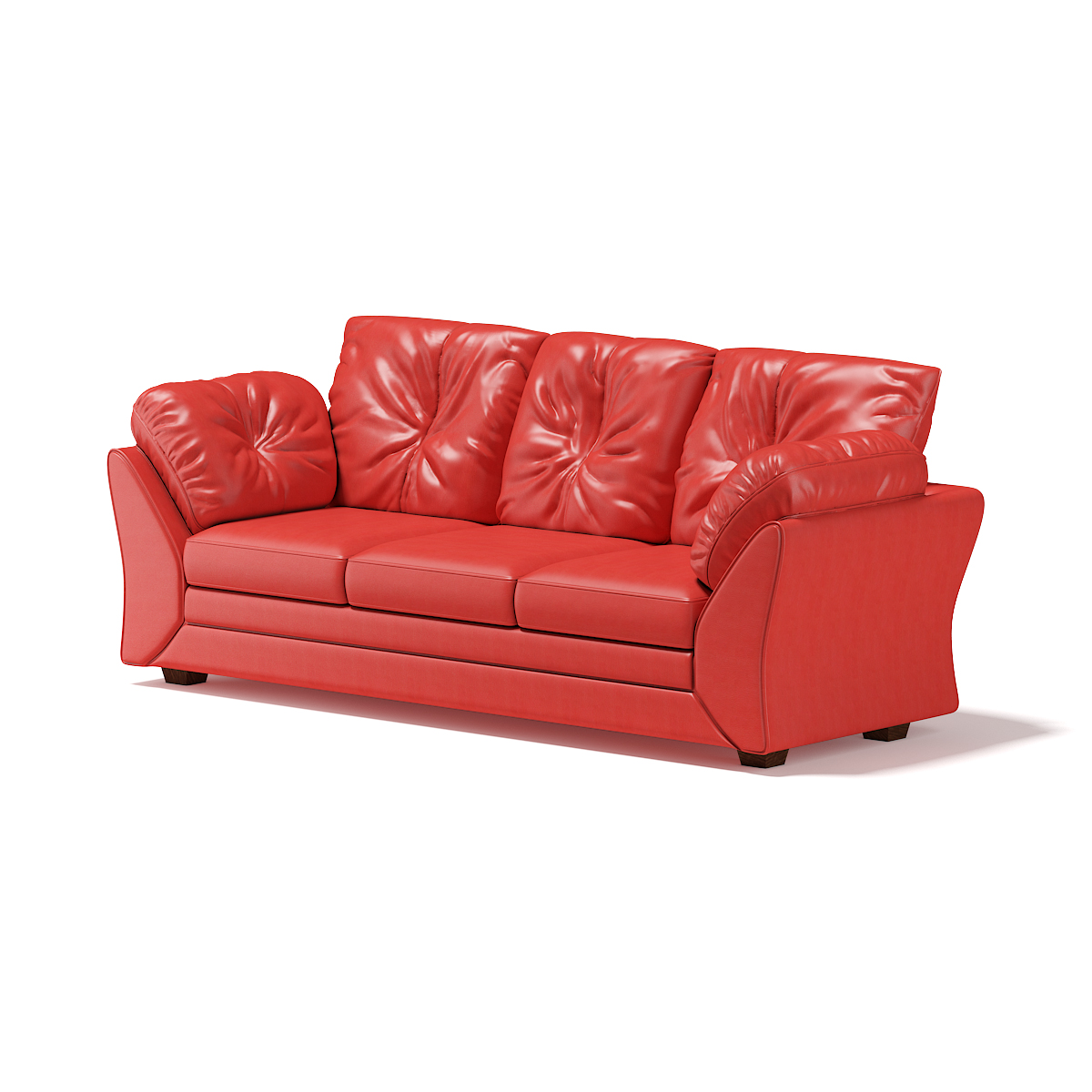 Red Leather Sofa Cgaxis Models