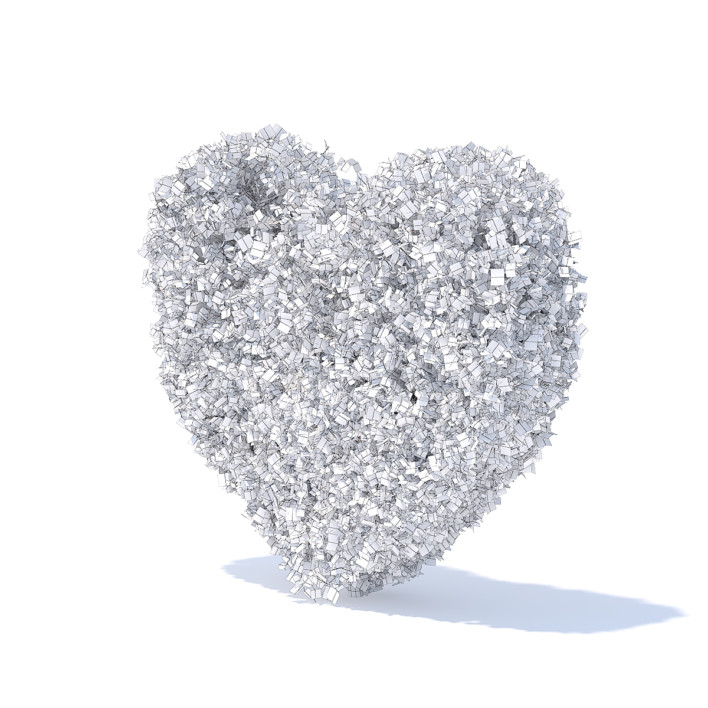 Heart Shaped Shrub 3D Model
