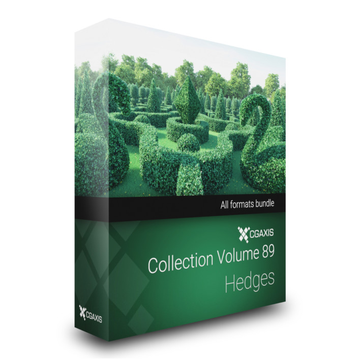Hedges 3D Models Collection Volume 89 by CGAxis