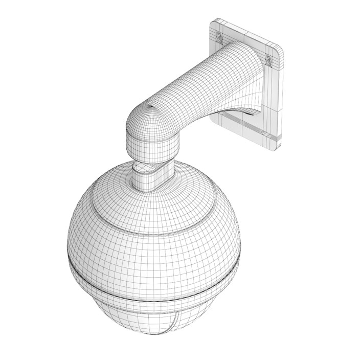 Round Security Camera 3D Model