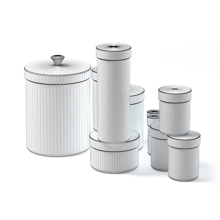 Spice Containers Set 3D Model