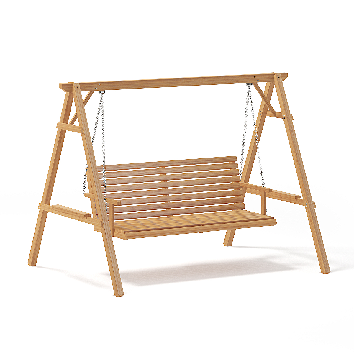 Bon Wooden Garden Swing Chair 3D Model