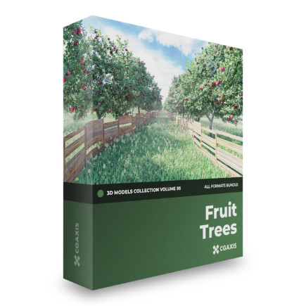 fruit trees 3d models