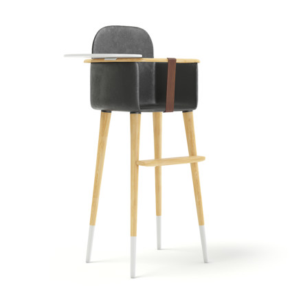 Feeding Chair with Black Seat