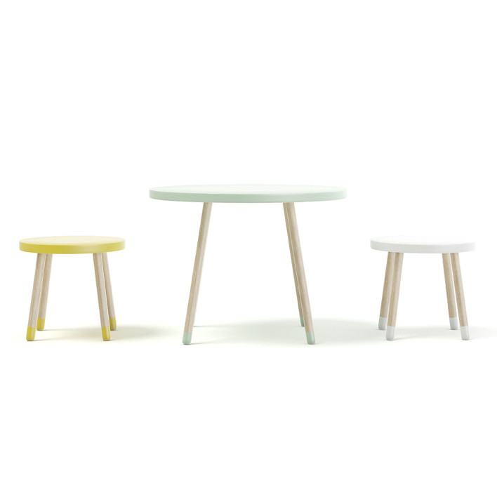 Three Color Children's Table and Stools