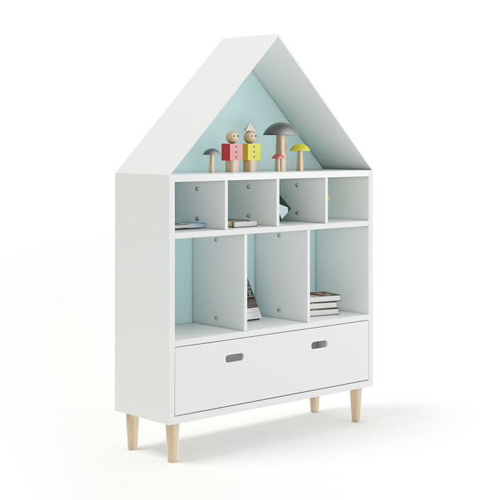 House Shape Shelf with Decorations