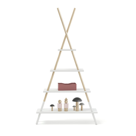 Teepee Shape Shelf with Decorations
