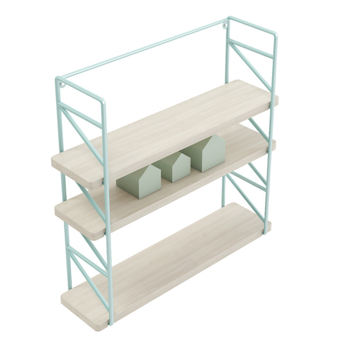 Wall Shelf with House Shape Blocks