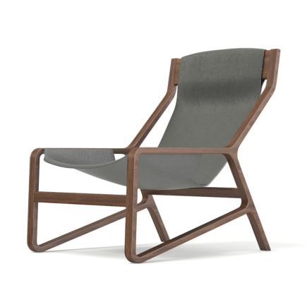 Wood and Leather Chair 3D Model