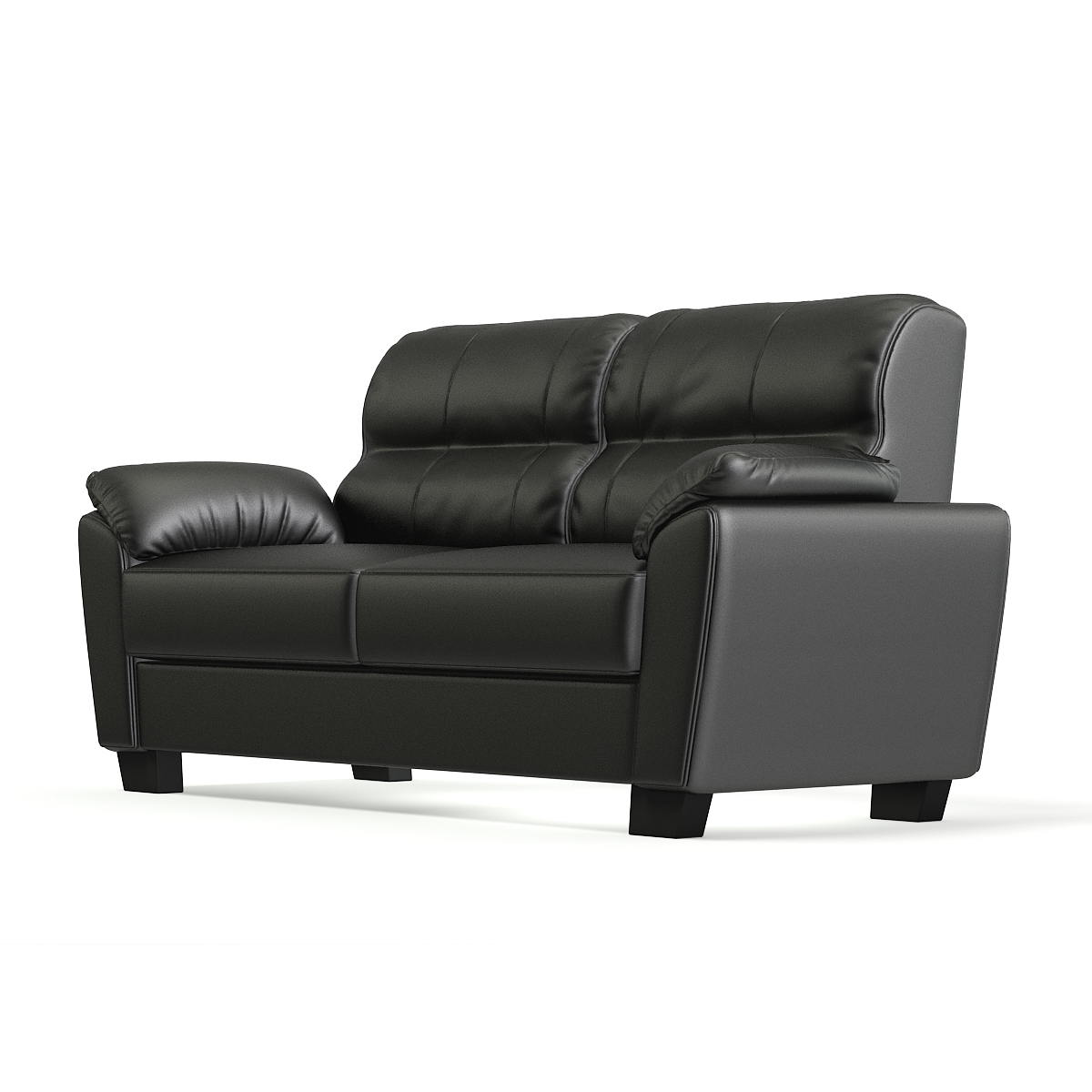 Black Leather Clic Sofa Model