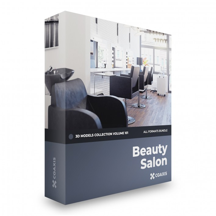 beauty salon 3d model