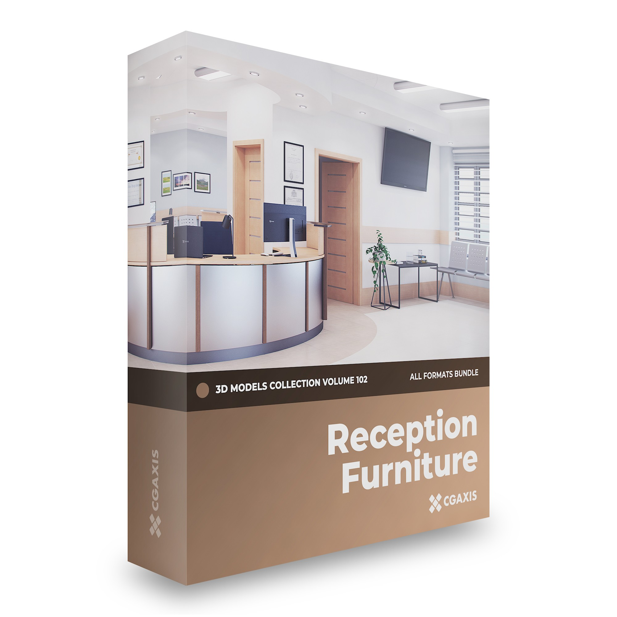 Reception Furniture 3D Models Collection - Volume 102