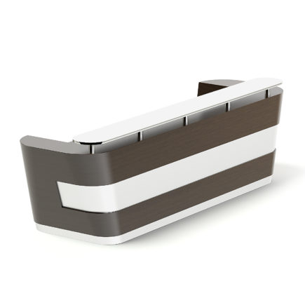 Wooden and Metal Reception Desk 3D Model