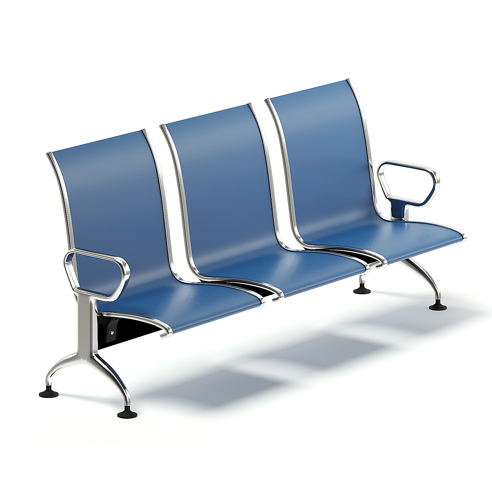 Blue Waiting Chairs 6D Model