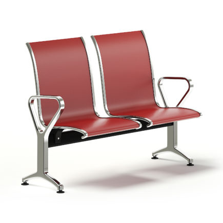 Red Waiting Chairs 3D Model