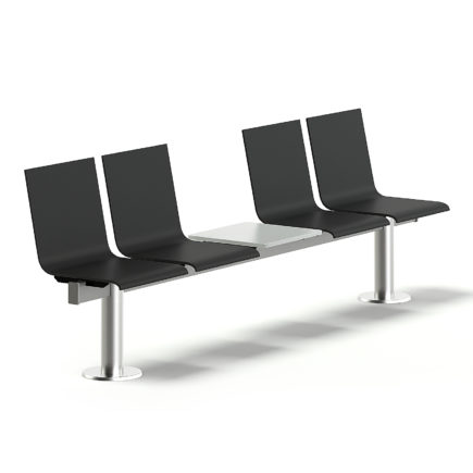 Black Waiting Chairs 3D Model