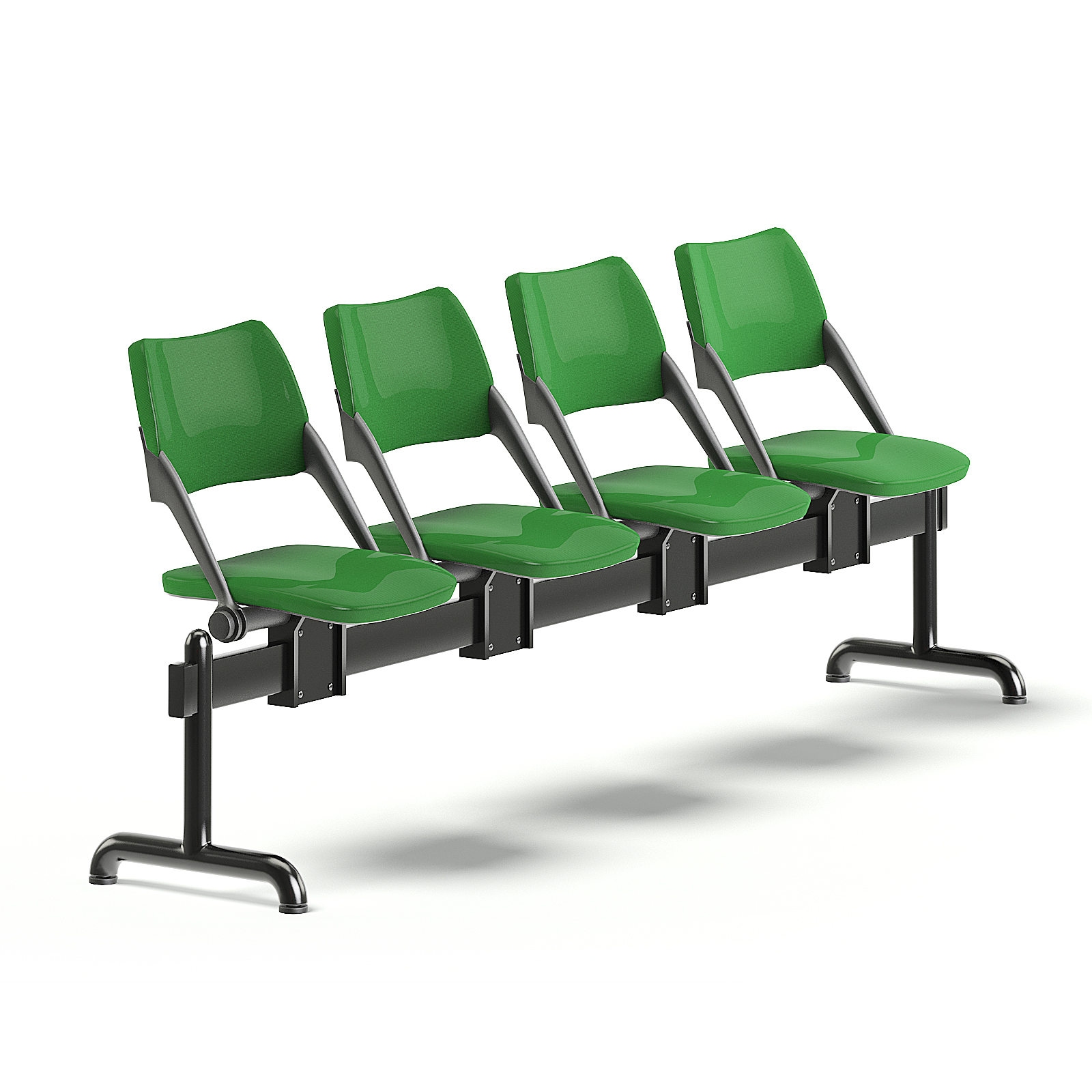 Green Waiting Chairs 6D Model