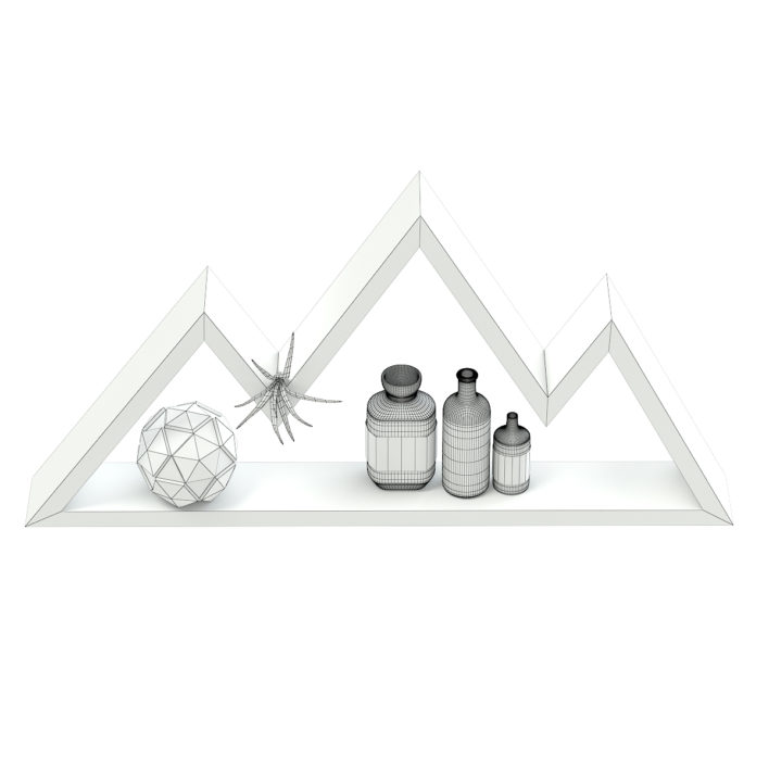 Mountain Shaped Wall Shelf 3D Model