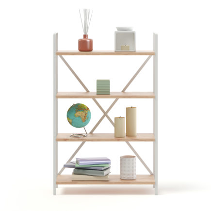 Bookshelf with Decorations 3D Model