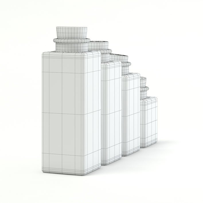 Spice Containers 3D Model