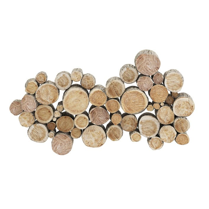 Wood Logs Decoration 3D Model