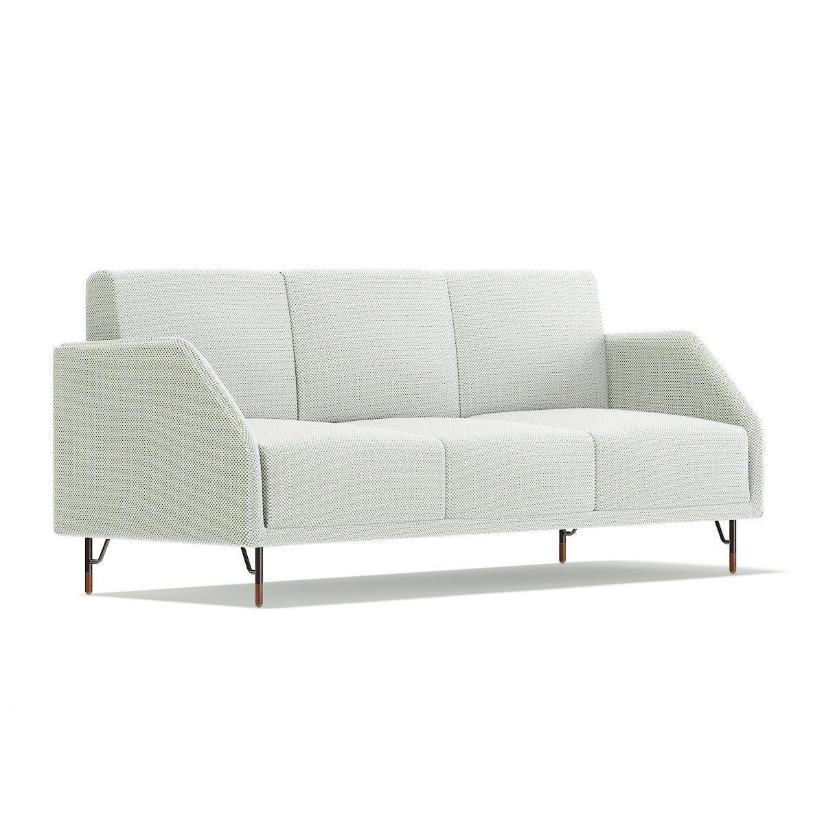 White Fabric Sofa Model Cgaxis