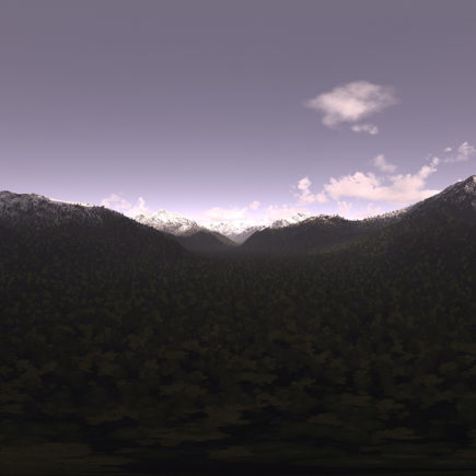 Early Evening Mountains HDRI Sky
