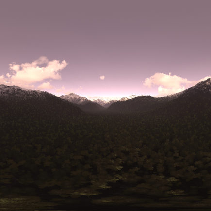 Evening Mountains HDRI Sky